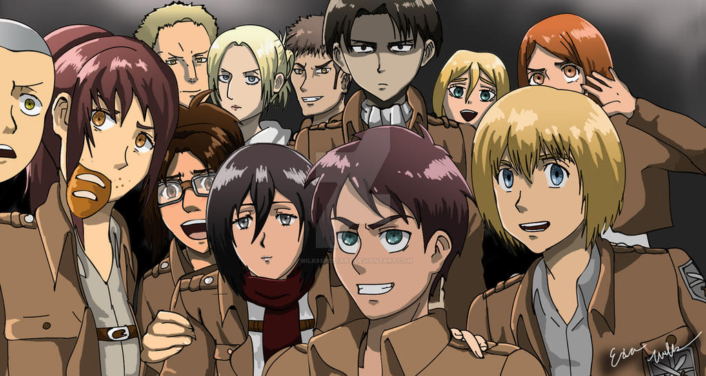 Attack On Titan Oscar Selfie By WilksSpeedArt