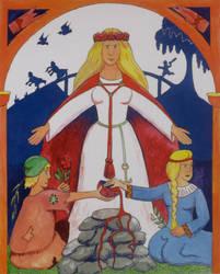 Lofn, Goddess of Love by Thorskegga