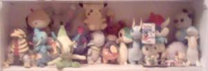 My stuffed Pokemon shelf