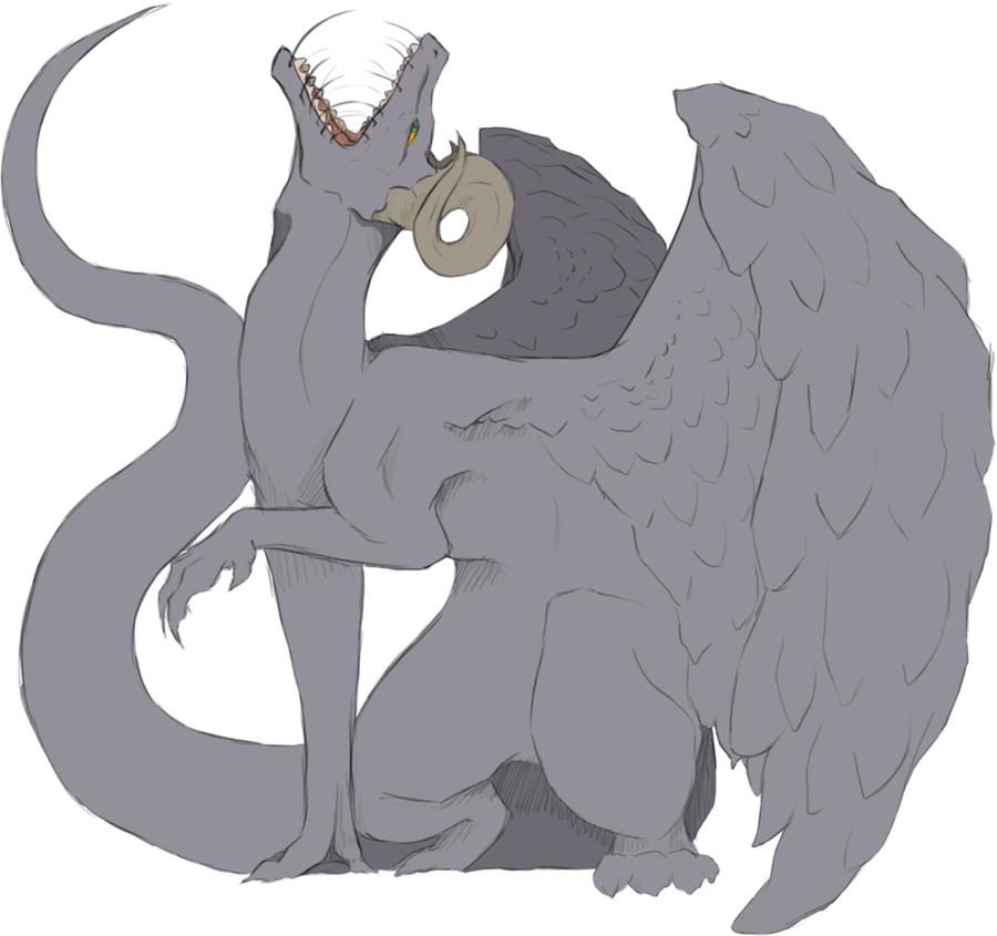Dragon Sketch 1 by MiniDemons