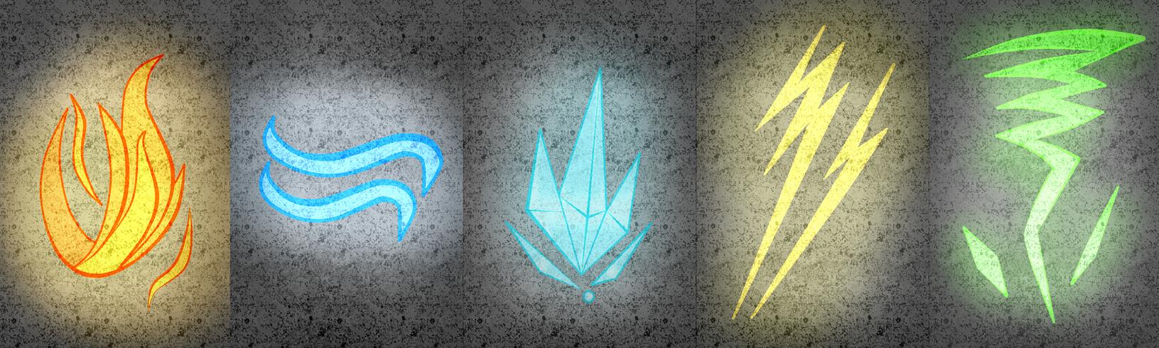 The 5 magic symbols by Azureanothertale