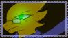 Garasu!Alphys Stamp by Azureanothertale