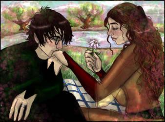 Hermione Granger And Harry Potter On Quality Hp Fanart Deviantart