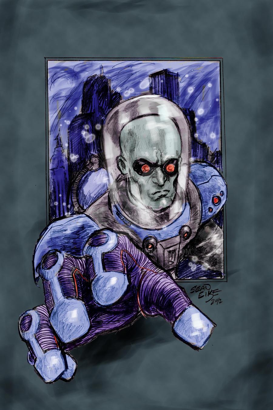 Mr Freeze Sketch by hoganvibe