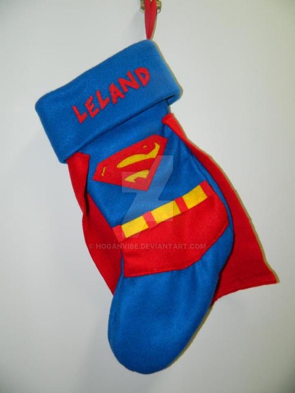 Superman Christmas Stocking by hoganvibe