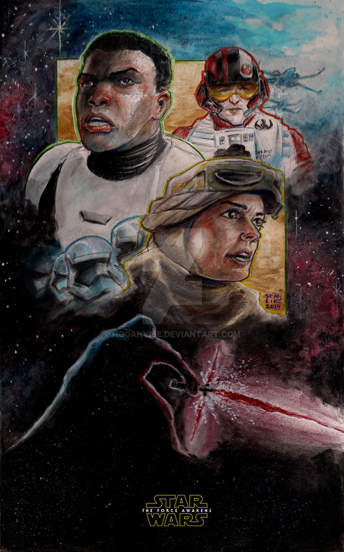Star Wars The Force Awakens Painted by hoganvibe