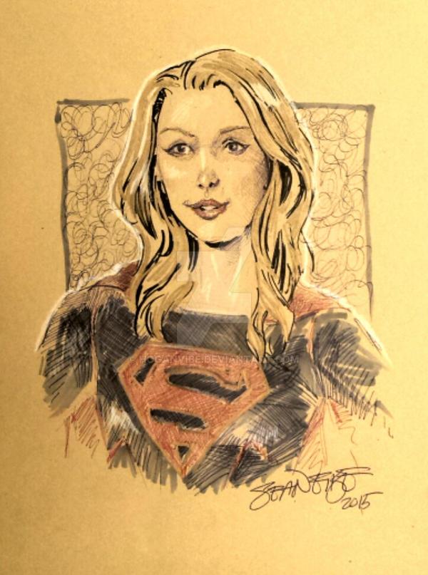Supergirl Sketch by hoganvibe