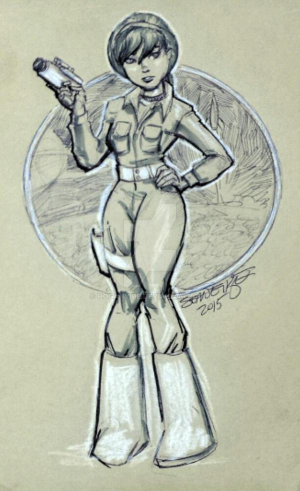 Spacesuit April by hoganvibe