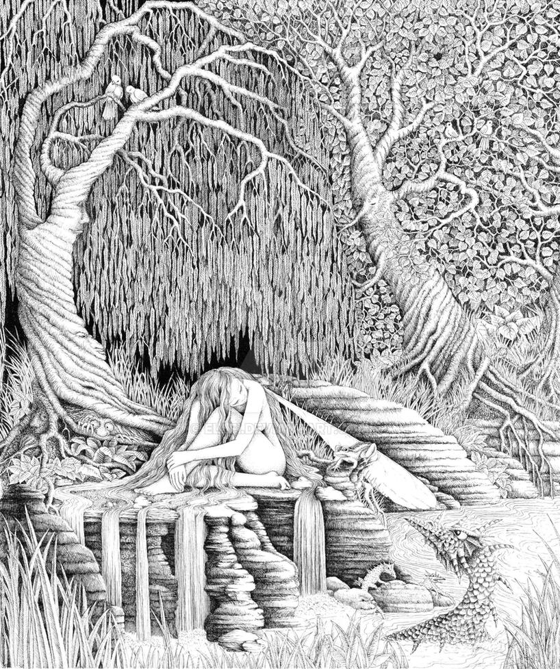 complex coloring pages nature scenes - photo#33