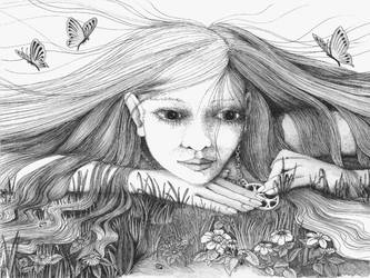Daydreaming -  doodle by ellfi