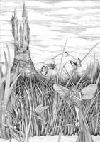 Dragonfly pond by ellfi