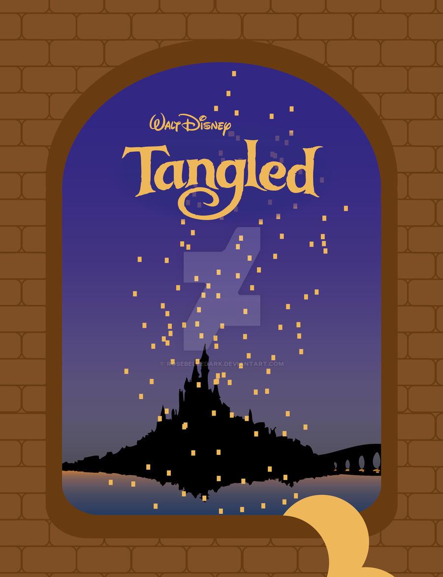 tangled minal poster disney by RoseBelleDArk
