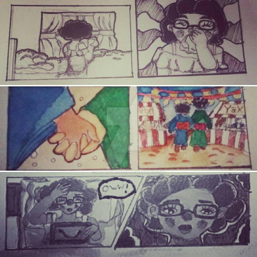 Manga Jiman Eighth Entry Comic Panels by Memenda-Seven