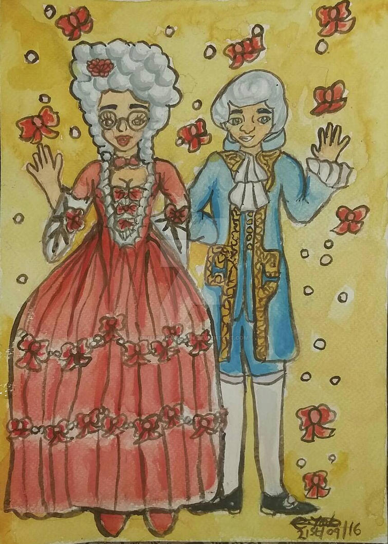 Monica and Gael in Rococo Fashion by Memenda-Seven