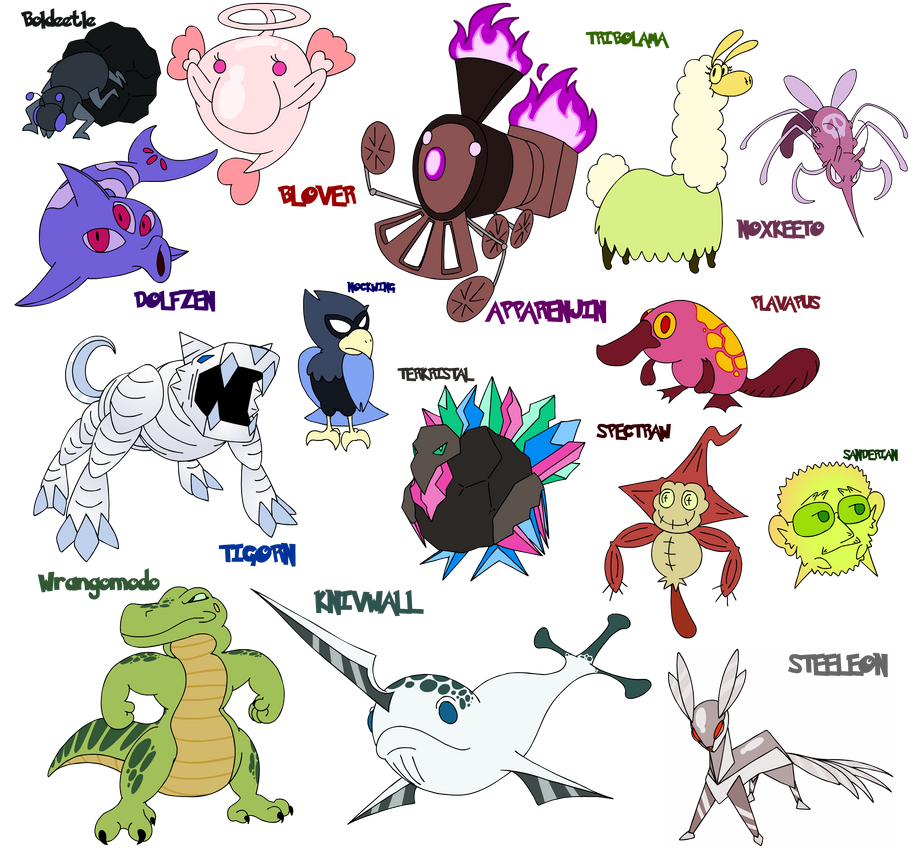 Fake Gen 7 Pokemon by Kirbopher15