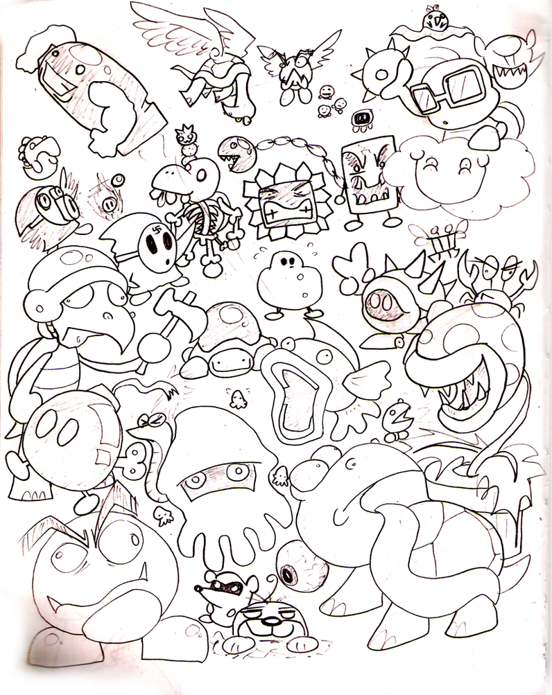 Super Mario Characters Coloring Pages Coloring Pages