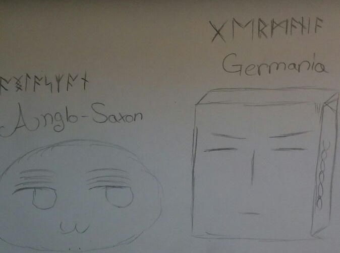 Germania Mochi and Anglo-Saxon Mochi Sketch by VatiGermania