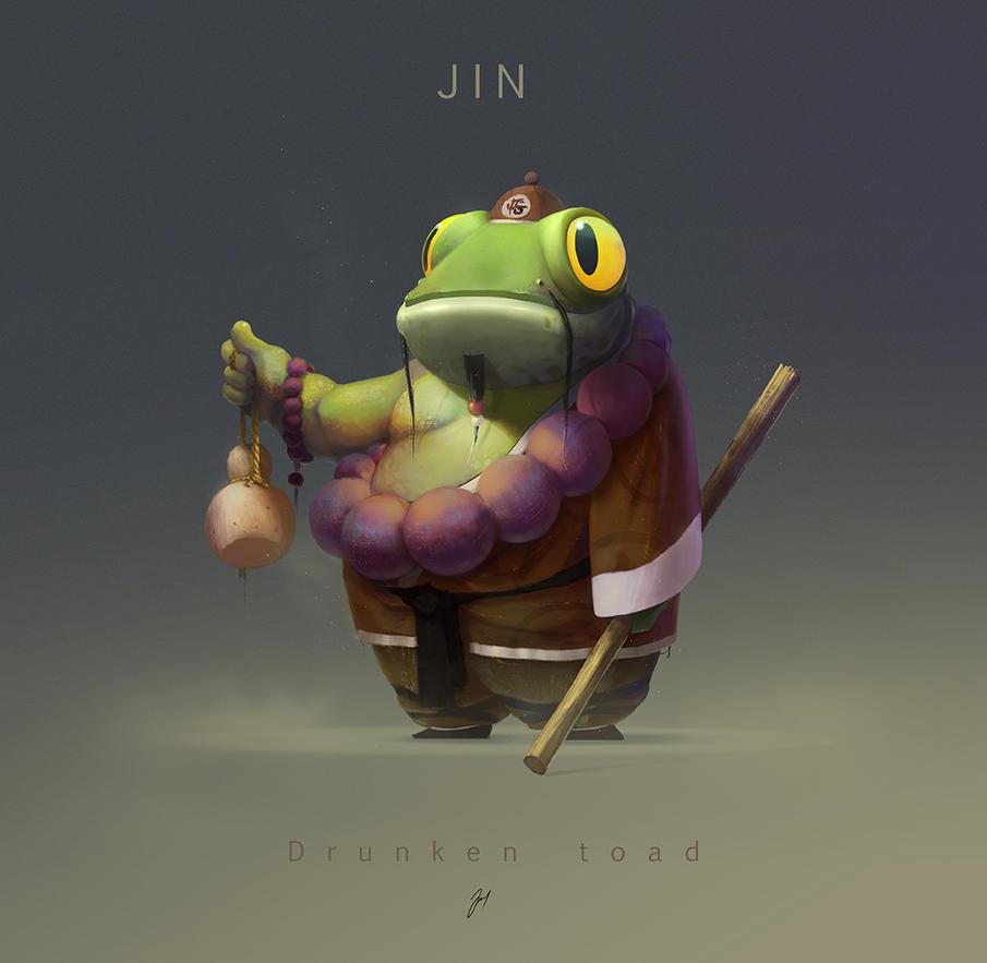 JIN. the drunken toad. by jsuursoo