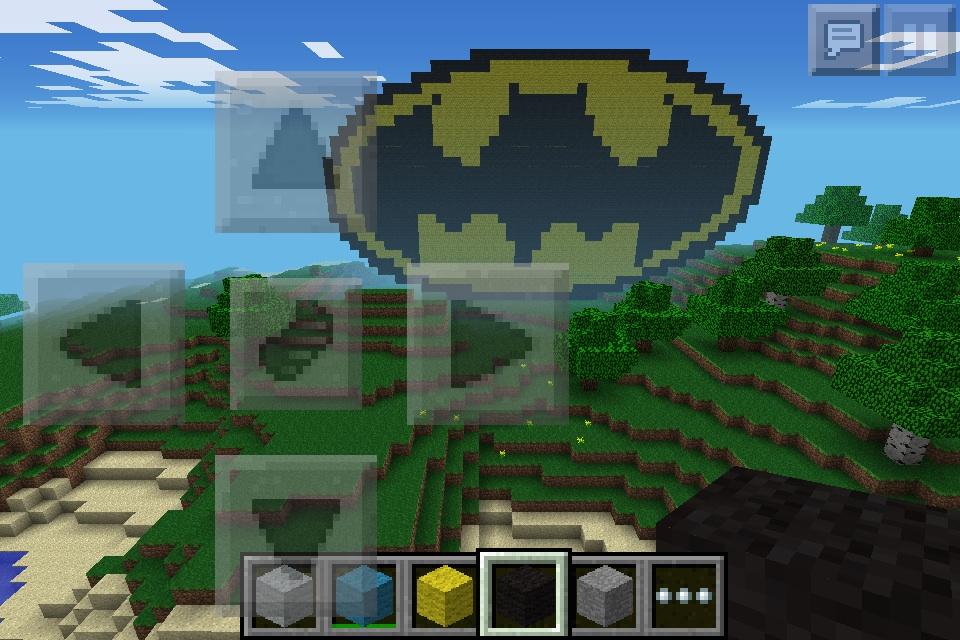 Minecraft Batman Symbol By Nightfurydragon28 On Deviantart