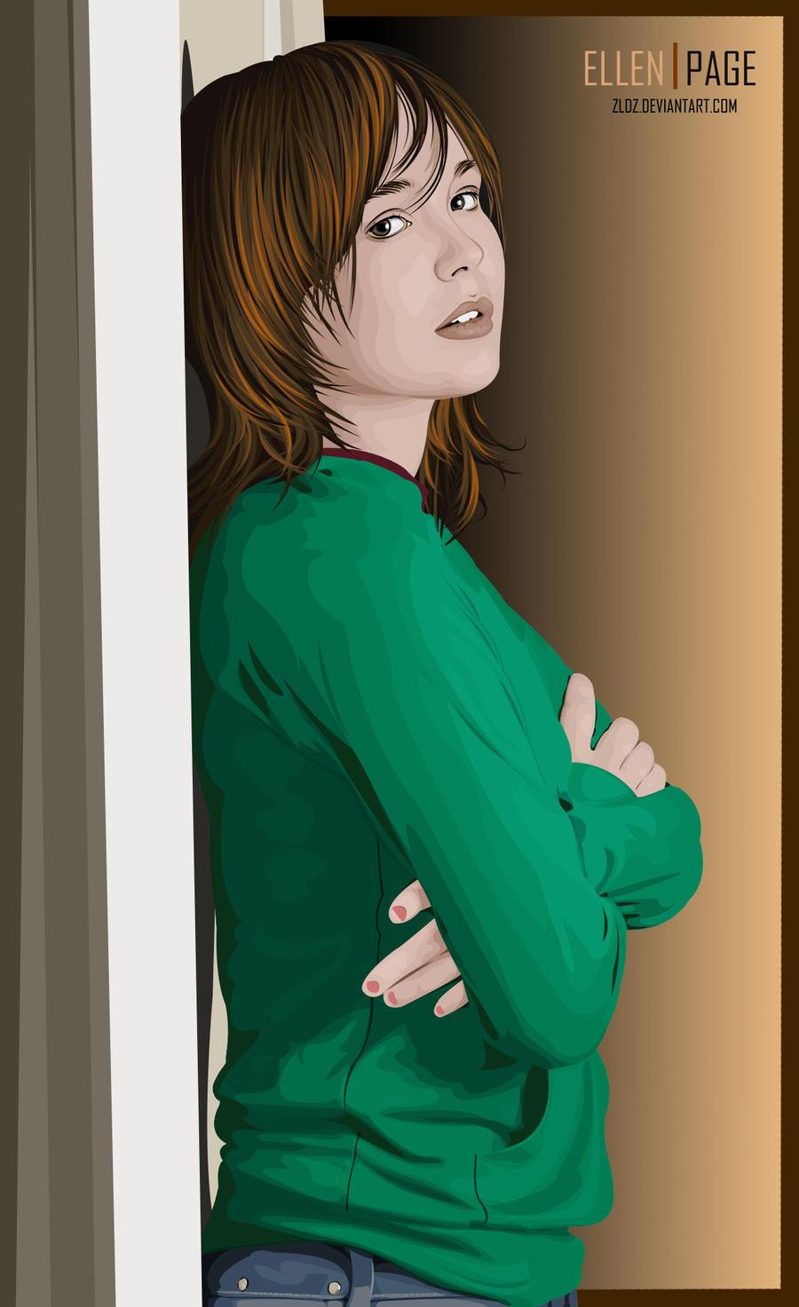 Ellen Page by zldz