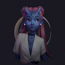 Blue Demon Girl