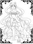 Princess serenity Line art by magicpotion