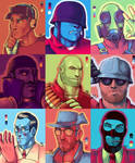 TF2 palette portraits. (team RED)