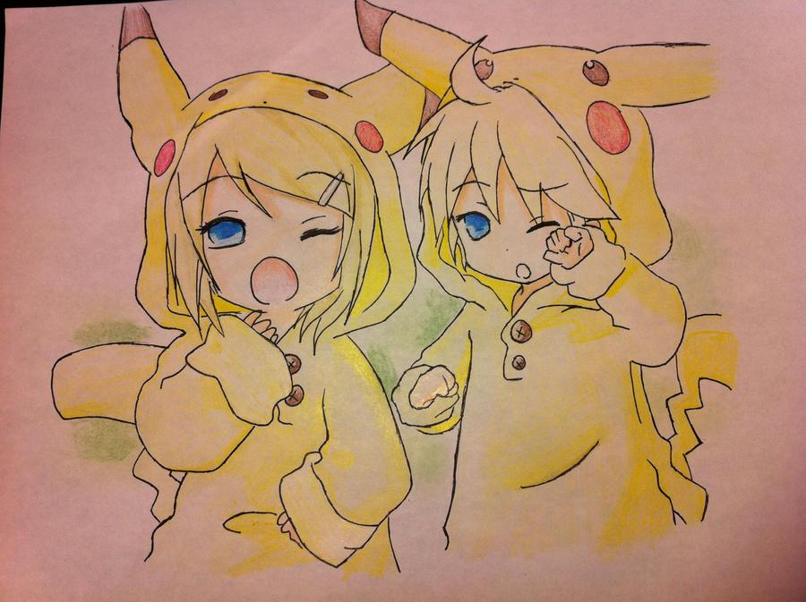 Pikachu Rin and Len