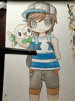 Pokemon Trainer with Rowlet