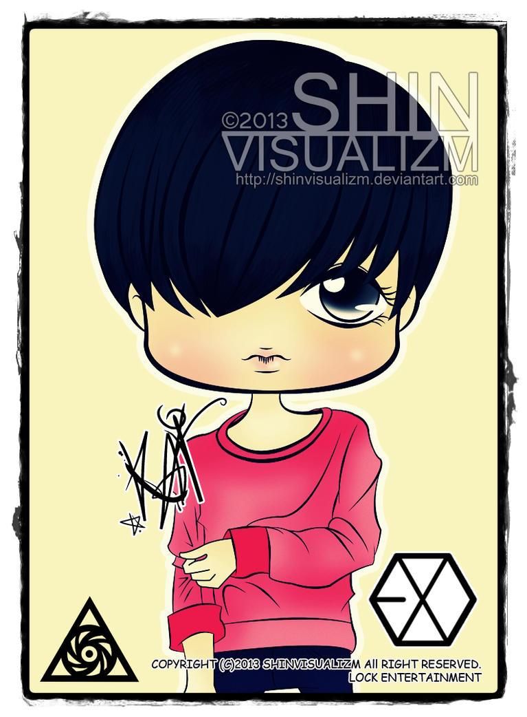 Exo K Version Repackage Growl Photocard Baekhyun Glasses