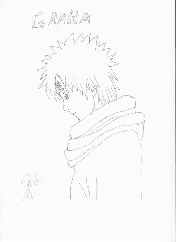 gaara drawings in pencil - photo #45