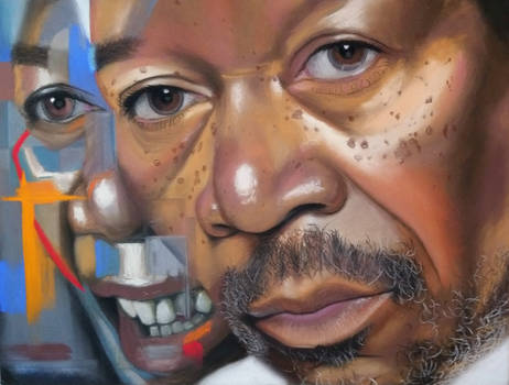 Morgan Freeman + abstraction