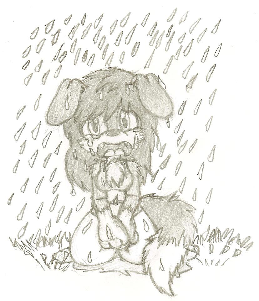 Blue eyes crying in the rain by evilmeep