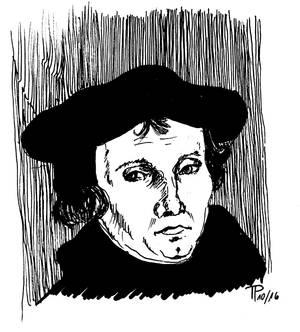 Inktober 16-30 Martin Luther