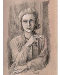 Sketch study Vintage Girl