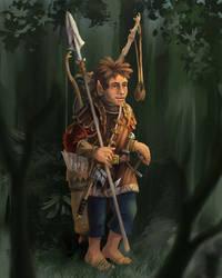 Mervin Flinkfuss - Halfling Adventurer