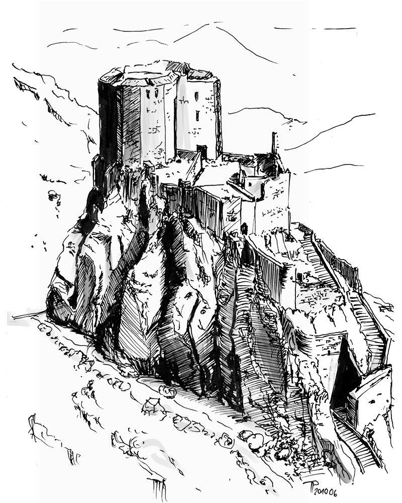 Inktober 2020 6/31   Castle ruins