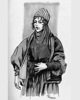 Bedouin Woman | Inktober 2020/16