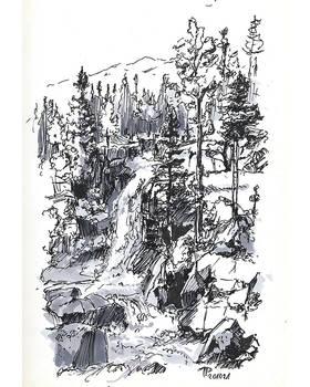 Inktober 2020 No. 17 | Mountain Stream
