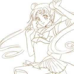 Sailor Moon - line art WIP