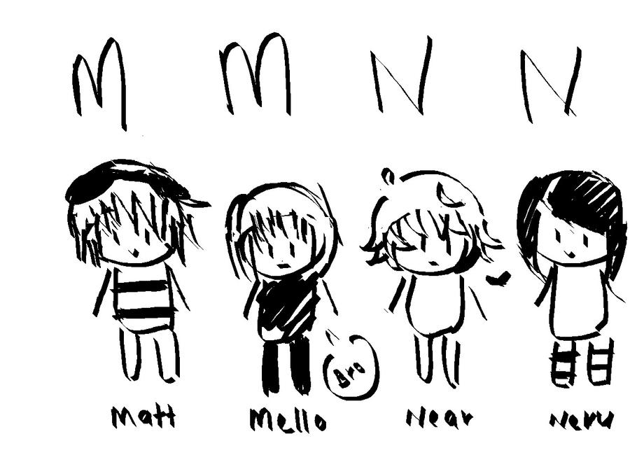 Matt,Mello,Near,Neru by Otromeru