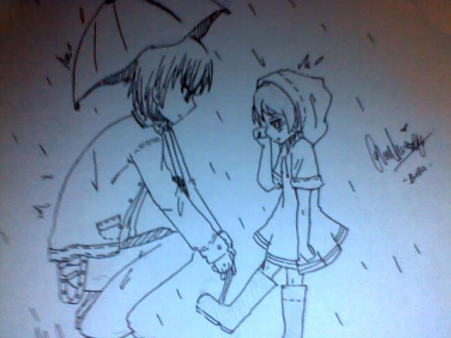 In the rain by Otromeru