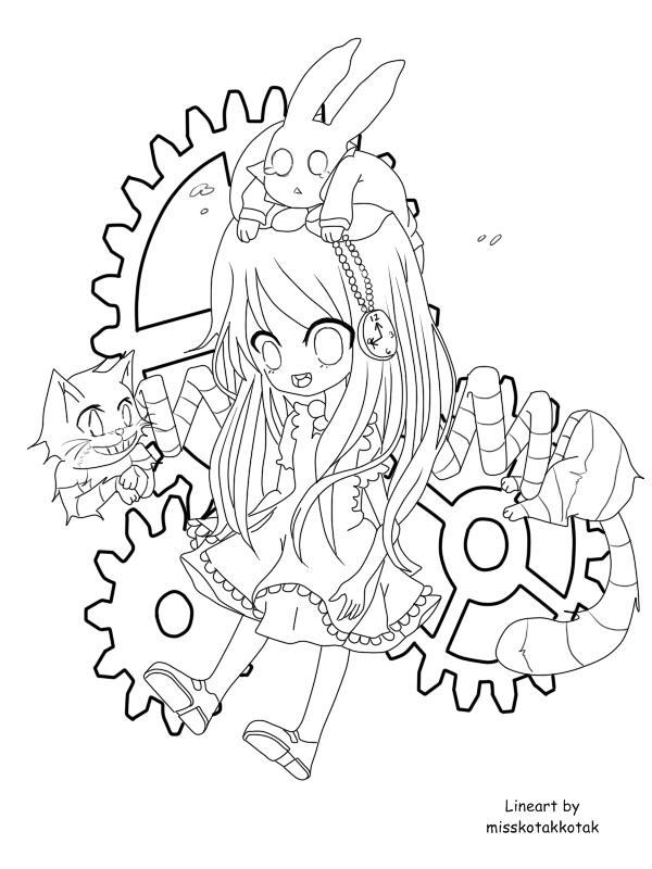 Lineart- Alice by Otromeru