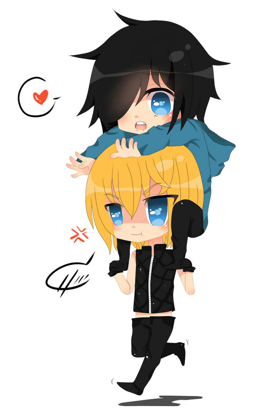 Comission:S and Mello by Otromeru