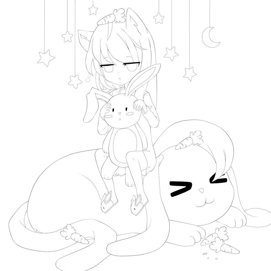 Lineart: Sleepy head by Otromeru