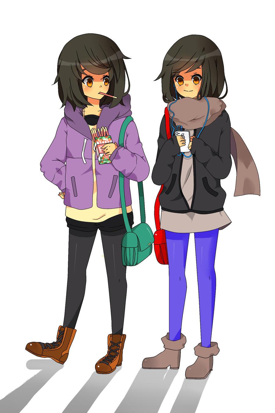 Neru and Jeenso colored by Otromeru