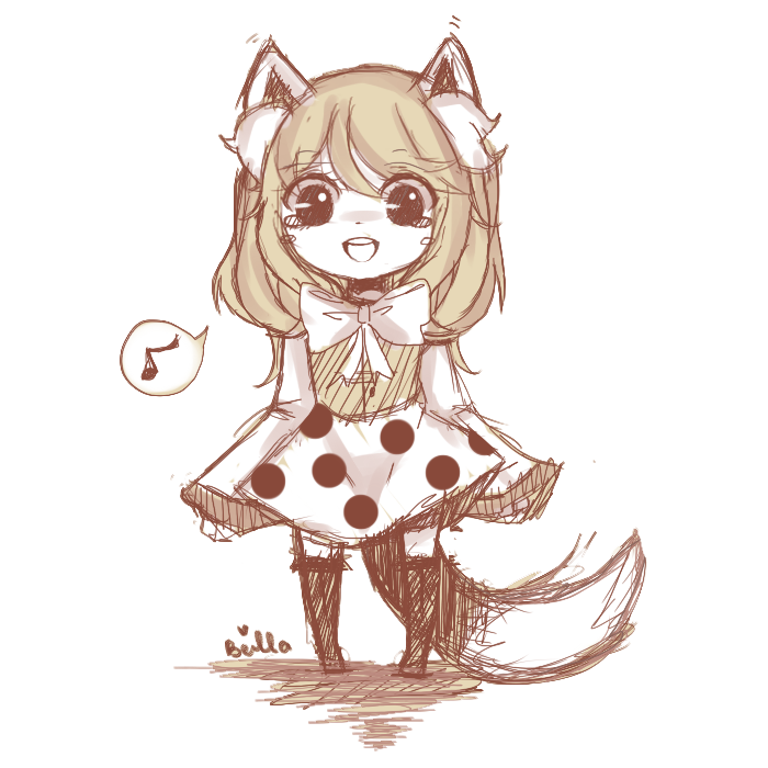 Quick doodle: Lil fox by Otromeru