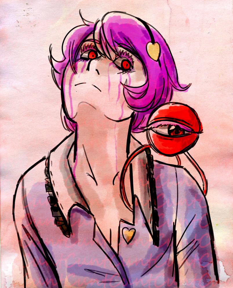 Pink tears by MissHornet
