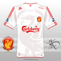 2009,10 Liverpool away Shirt by kitster29