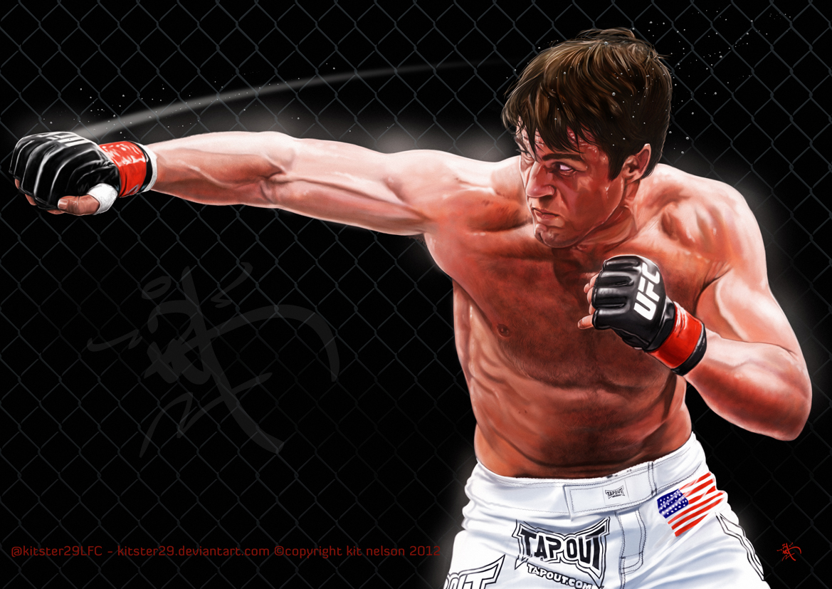 Chael P. Sonnen Final painting by kitster29
